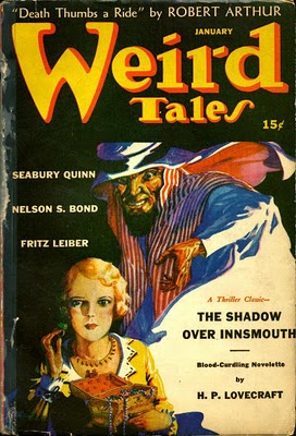 Weird Tales cover for January 1942.