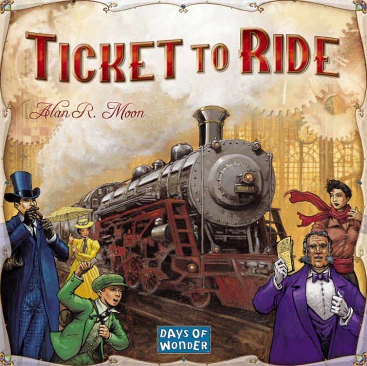 Ticket to Ride cover art.