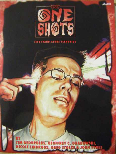 One Shots cover. Published at Atlas Games.