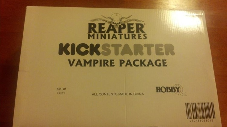 Vampire package of the Reaper Bones crowdfunding project. Photo by Josh.