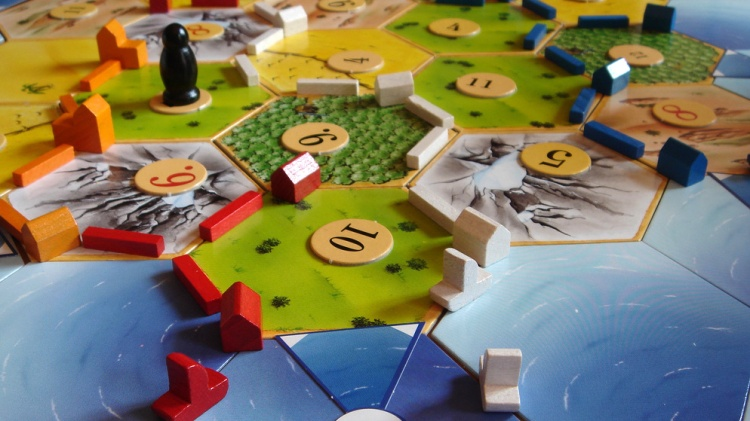 Settlers of Catan board.
