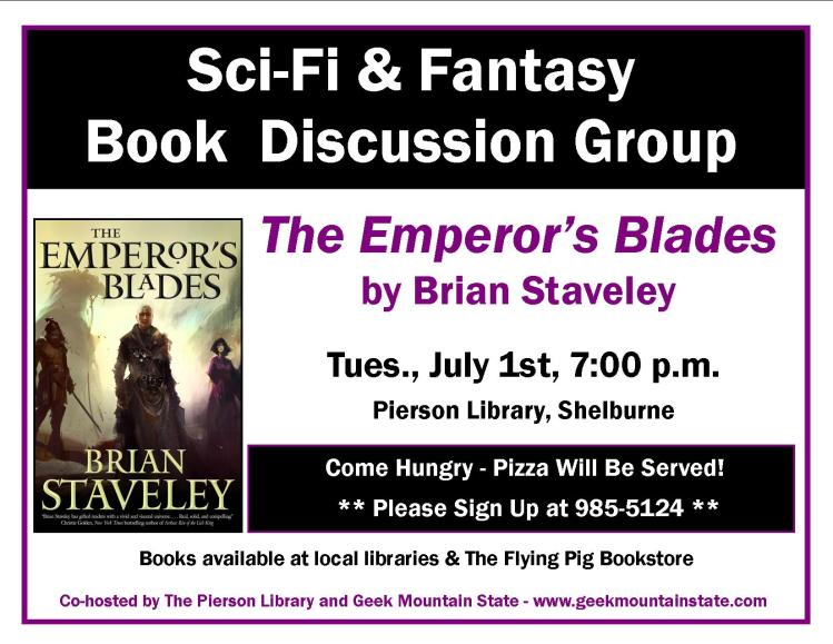 Sci Fi Fantasy Book Club Emperor Blade