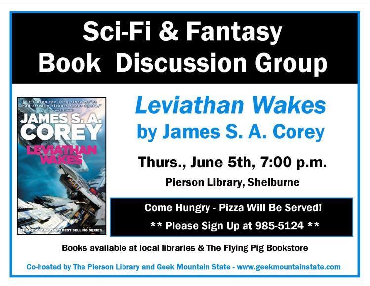 Sci Fi Fantasy Book Club Leviathan