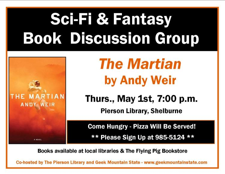 Sci Fi Fantasy Book Club Martian