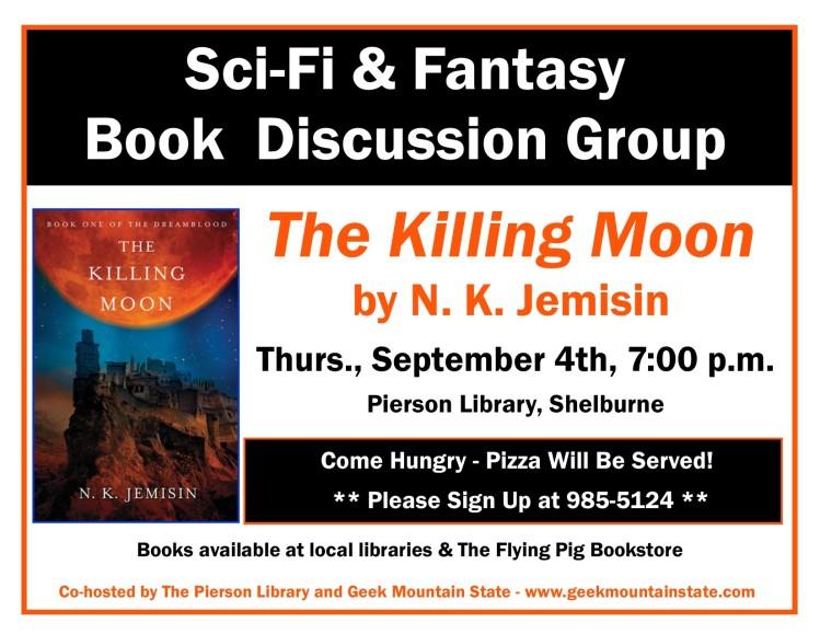 Sci Fi Fantasy Book Club Killing Moon