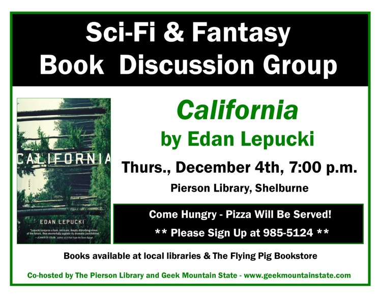 Sci Fi Fantasy Book Club California