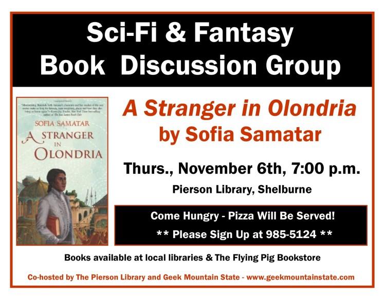 Sci Fi Fantasy Book Club Stranger in Olondria