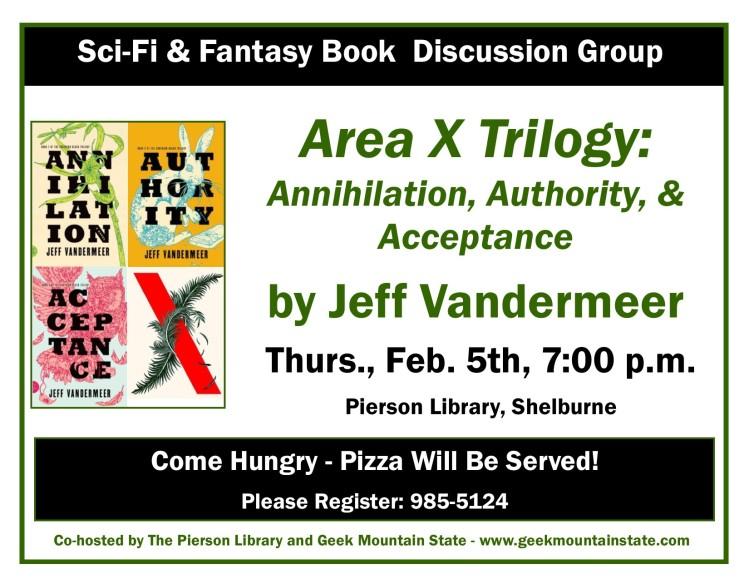 Sci Fi Fantasy Book Area X